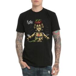 Korn Band Heavy Metal Rock Tshirt Black