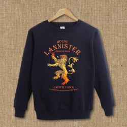 lannister Gold Lion Hoodie Game of Thrones Pullover Sweatshirt