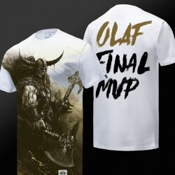 Limited Edition LOL Olaf T-shirt League of Legends Berserker Hero Tee