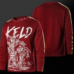 Lol Keld Hero T-shirt Long Sleeve Red Wine Tee