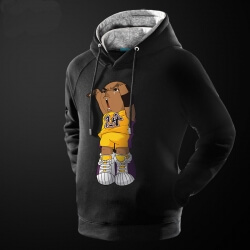 Lovely Cartoon Kobe Bryant Hoodie Red Pullover Sweatshirt