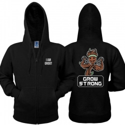 Lovely Grow Strong Hoodie Guardians of the Galaxy 2 Zipper Sweatshirt