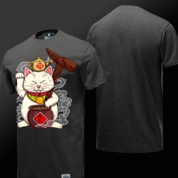 Lovely Master Roshi T shirt Dark Grey Dragon Ball Super T-shirt for Men