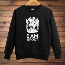 Lovey Groot Crew Neck Hoodie Guardians Of The Galaxy 2 Sweatshirt for Men