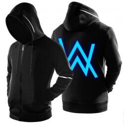 Luminous Alan Walker Fade Hoodie ZIp Up Black Sweatshirt