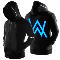 Luminous Alan Walker Fade Hoodie ZIp Up Black Sweatshirt
