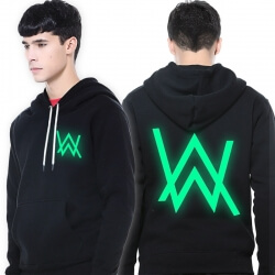 Cool Luminous Alan Walker Hoodie Faded Pullover Sweatshirt