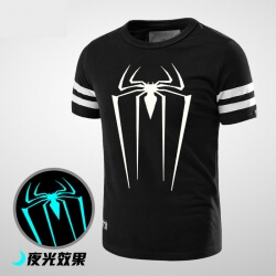 Luminous Black Spiderman T-Shirt