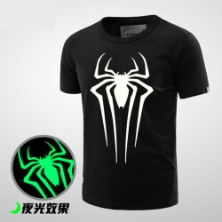 Luminous Spiderman Comic T shirt