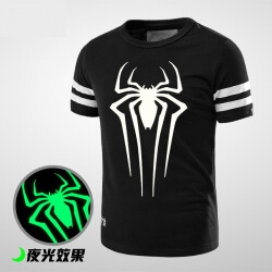 Luminous Spiderman Logo T Shirt for Men