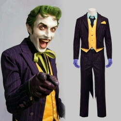 Quality Batman Joker Suit Arkham Asylum Joker Cosplay Costume