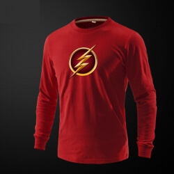 Marve The Flash Hero Long Sleeve Tee Shirt