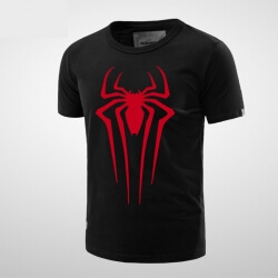 Marvel Spiderman T Shirt Men Boy Black Tee