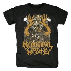 Metal Rock Graphic Tees Municipal Waste T-Shirt