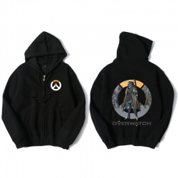 Overwatch Ana Sweatshirt Mens Black Hoodie