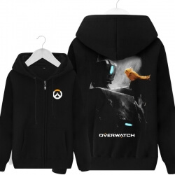 Overwatch Bastion Hooded Sweatshirts Men Black Hoodie
