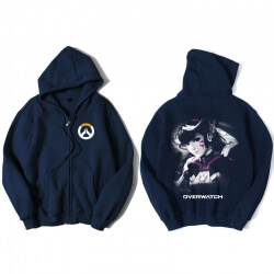 Overwatch D.Va Hoodie For Mens Blue Sweatshirt