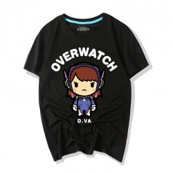 Overwatch Game Tshirts Lovely Cartoon D.Va Shirts