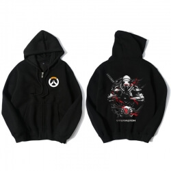 Overwatch Genji Hooded Sweatshirts Men Black Hoodie