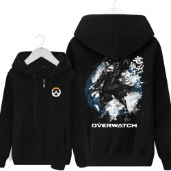 Overwatch Hanzo Hooded Sweatshirts Men Black Hoodie