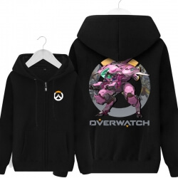 Overwatch Hero D.Va Hoodie For Boys Black Sweater