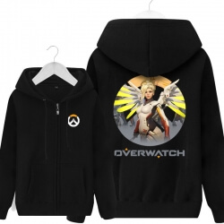 Overwatch Hero Mercy Sweatshirt Mens Black Hoody