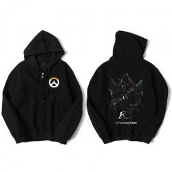 Overwatch Hero Reaper Hoodie Men Black Hooded Sweatshirts