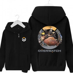 Overwatch Hero Roadhog Merchandise Mens Black Hoodies