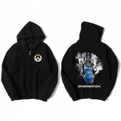 Overwatch Hero Symmetra Hoodie For Young Black Sweat Shirt