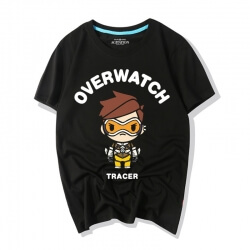 Overwatch Heroes Cartoon Tracer Graphic Tees