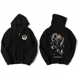 Overwatch Junkrat Sweat Shirts Mens Black Hoodie