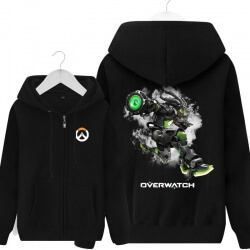 Overwatch lucio Hoodie For Boys Black Sweater