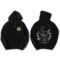 Overwatch Mccree Hooded Sweatshirts Men Black Hoodie