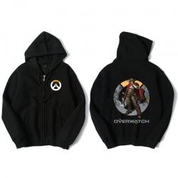 Overwatch Mccree Hoodie Men Black Hooded Sweatshirts