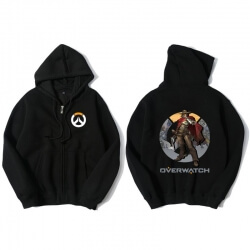 Overwatch Mccree Hoodie Men Black Hooded Sweatshirts