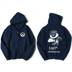 Overwatch Mei Sweater Mens Black Zip Hoodies