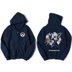 Overwatch Mercy Hoodie Men Black Hooded Sweatshirts