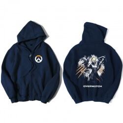 Overwatch Mercy Hoodie Men Black Hooded Sweatshirts