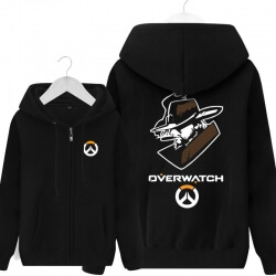 Overwatch OW Mccree Hoodie For Young Black Sweat Shirt