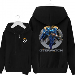 Overwatch Pharah Hoodie For Boys Black Sweater