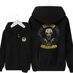 Overwatch Reaper Merchandise Men Black Hoodies