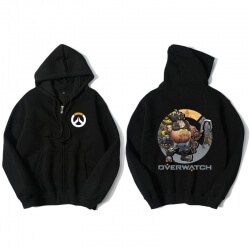 Overwatch Roadhog Hoodie For Young Black Sweat Shirt