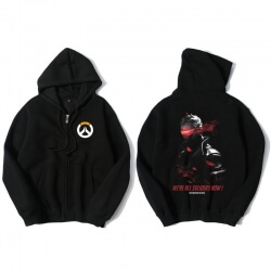 Overwatch Soldier 76 Hooded Sweatshirts Men Black Hoodie