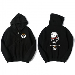Overwatch Soldier 76 Hoodie Men Blue Hooded Sweatshirts