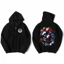 Overwatch Soldier 76 Hoodie For Young Black Sweat Shirt