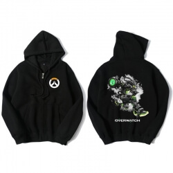 Overwatch Soldier 76 Hoody For Men Black Hoodie