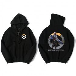 Overwatch Soldier 76 Sweatshirt Men Black Sweater