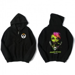 Overwatch Sombra Sweatshirt Mens Zipper Black Hoody
