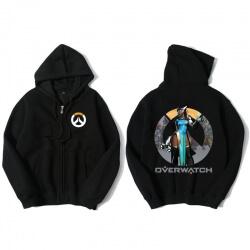 Overwatch Symmetra Hooded Sweatshirts Men Black Hoodie