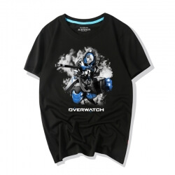 Overwatch Video Game Ana Ink Style T-Shirts